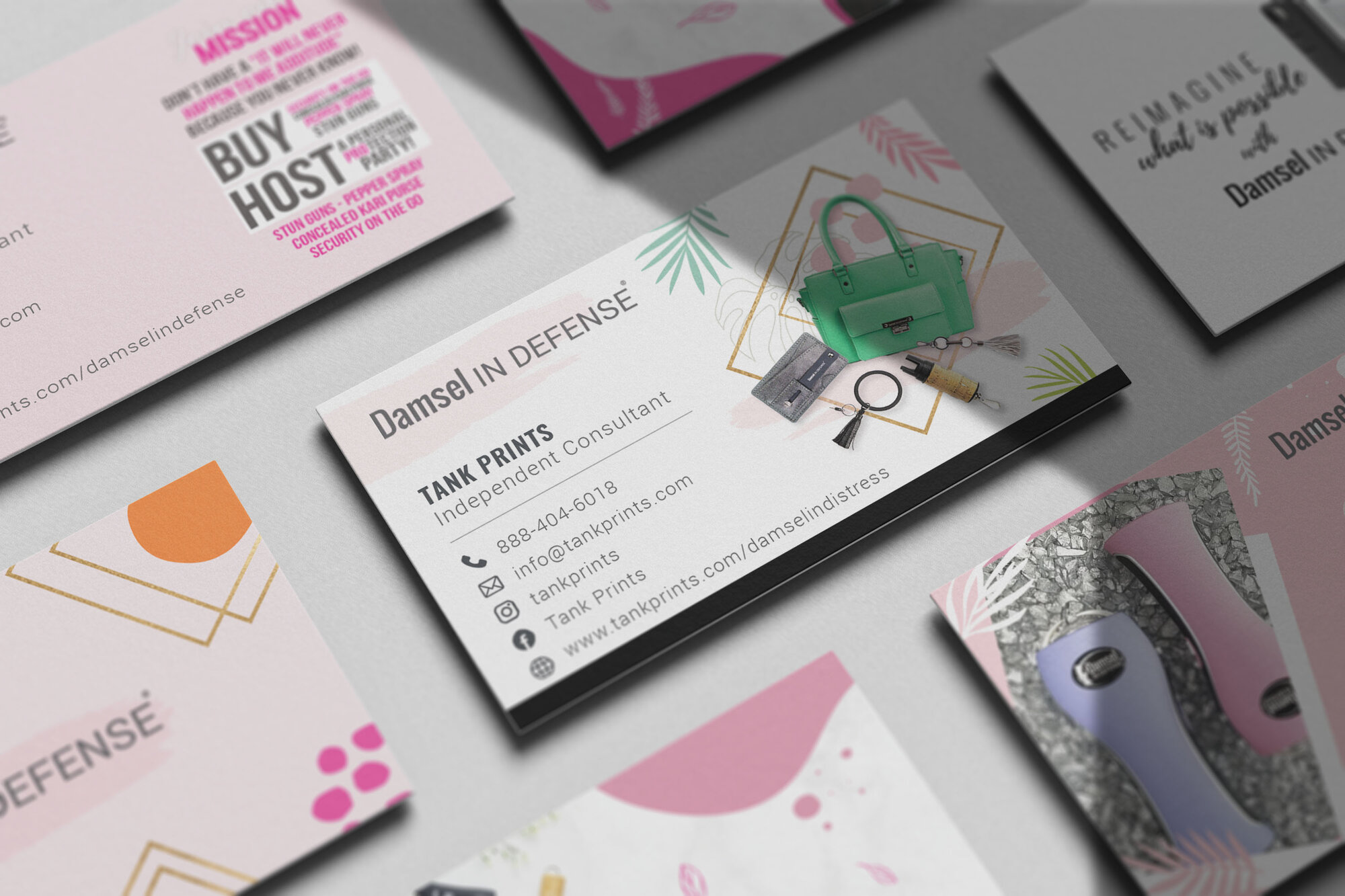 Damsel in Defense Business Cards