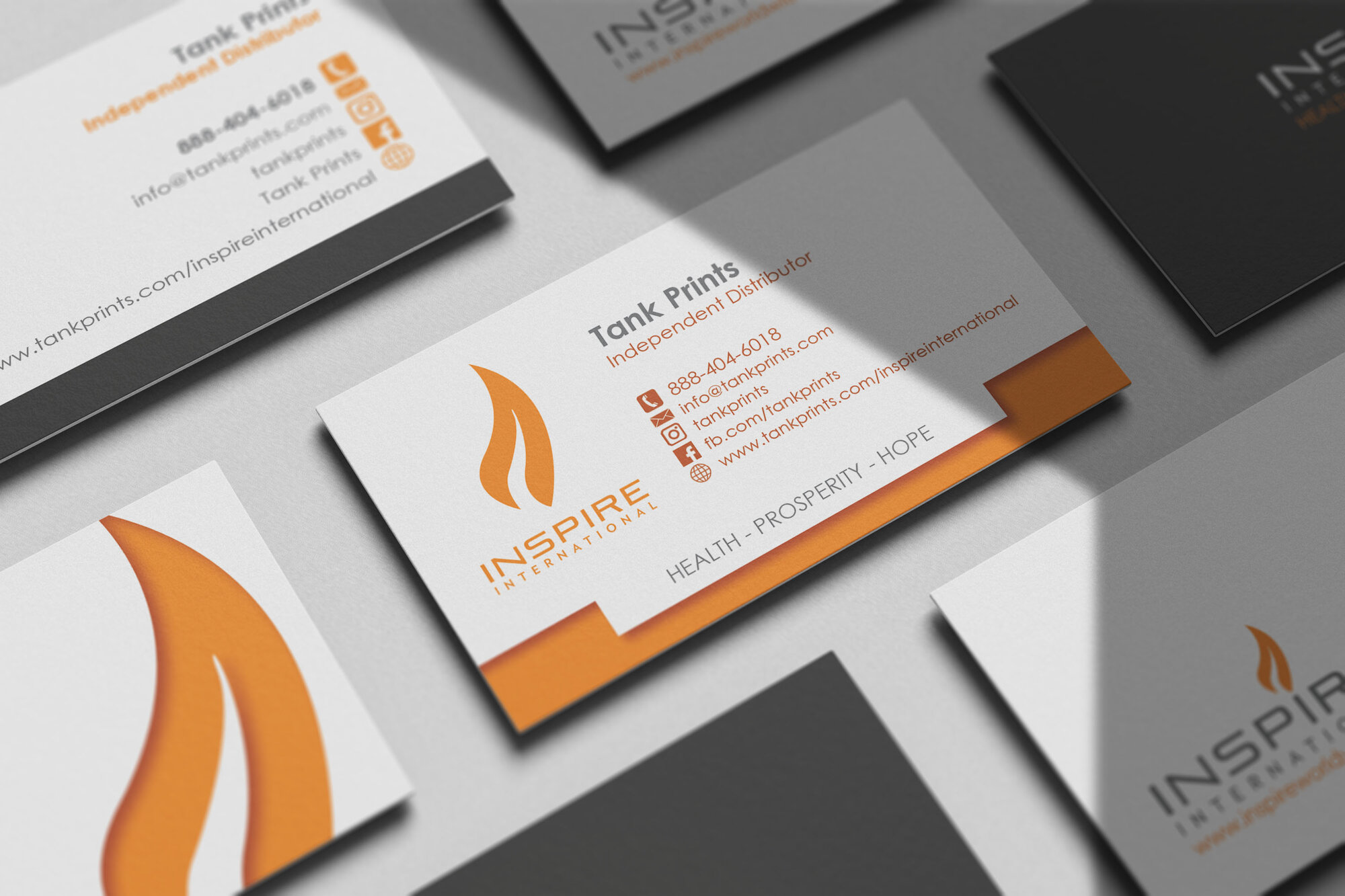 Inspire International Business Cards