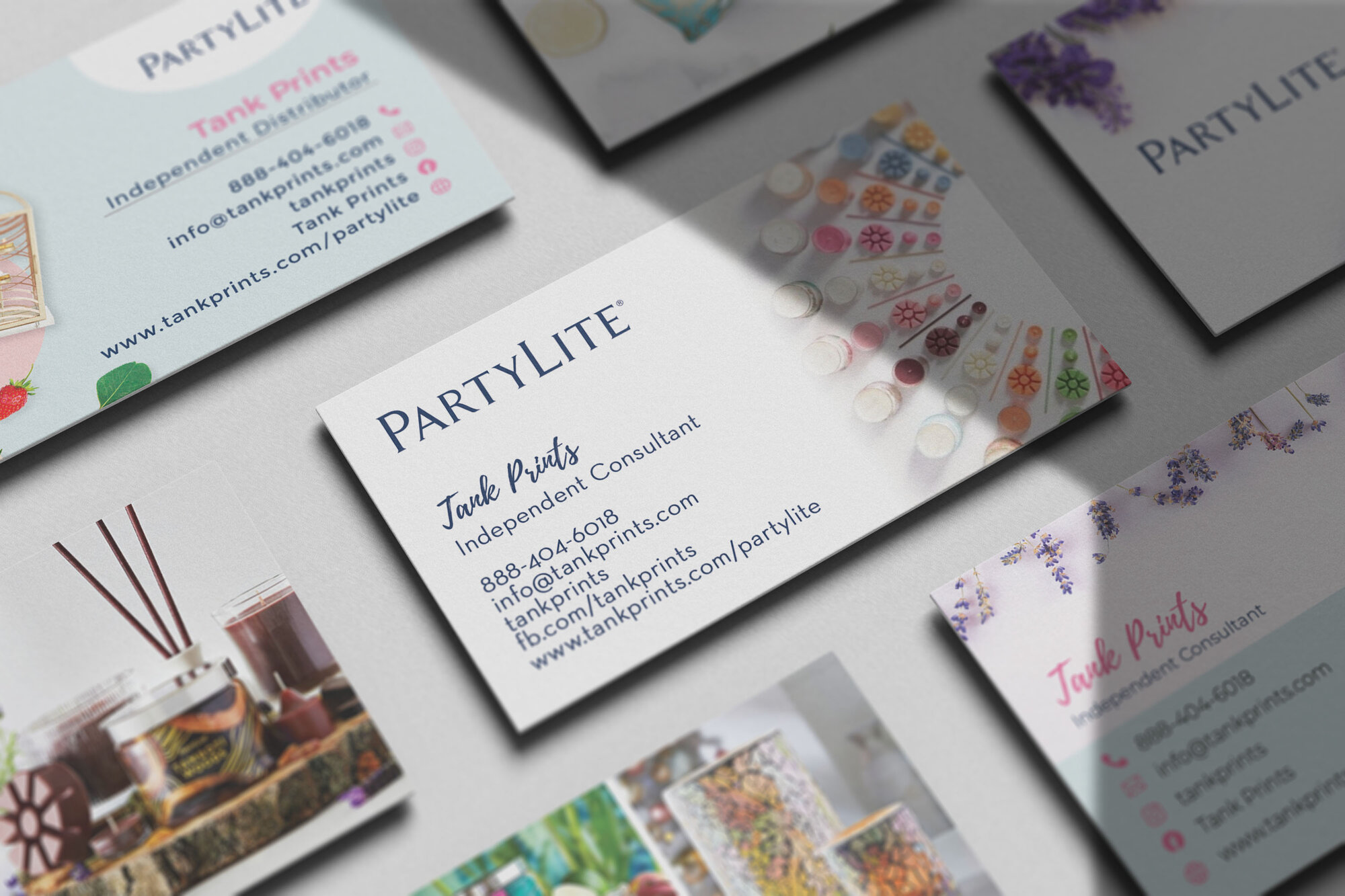 Partylite Business Cards
