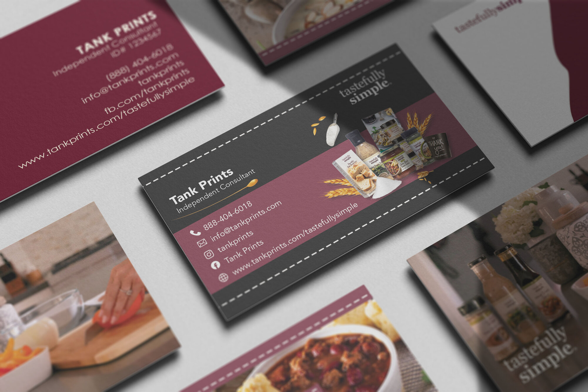 Tastefully Simple Business Cards