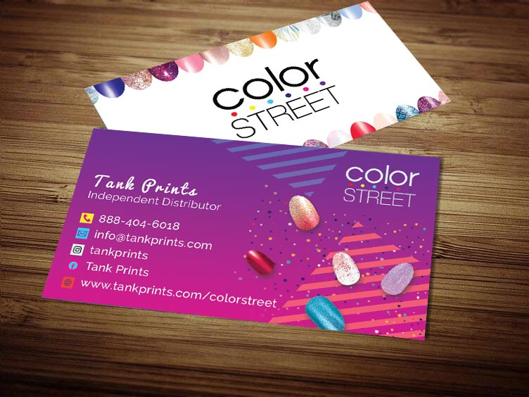 Color Street Business Card Design 1
