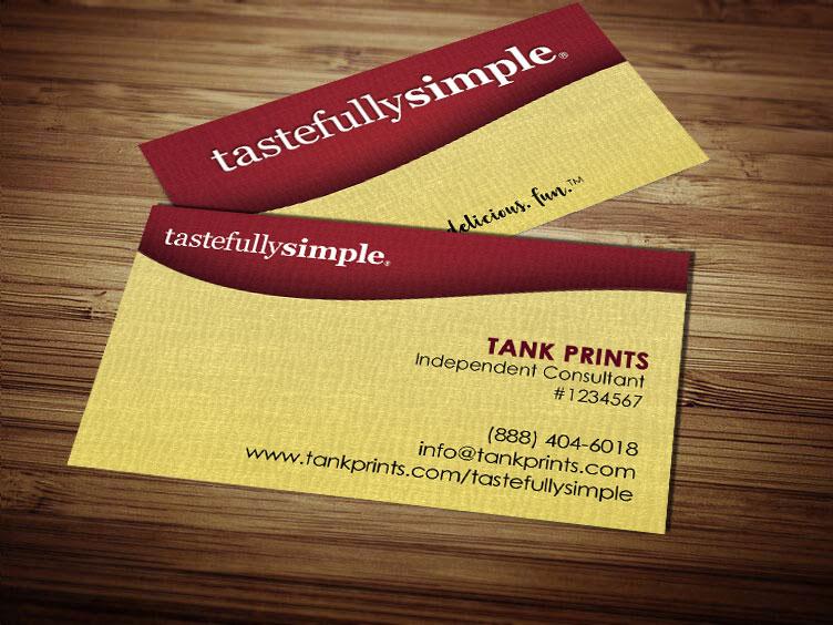 Tastefully Simple Business Card Design 1