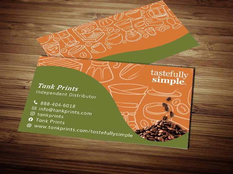 Tastefully Simple Business Card Design 2