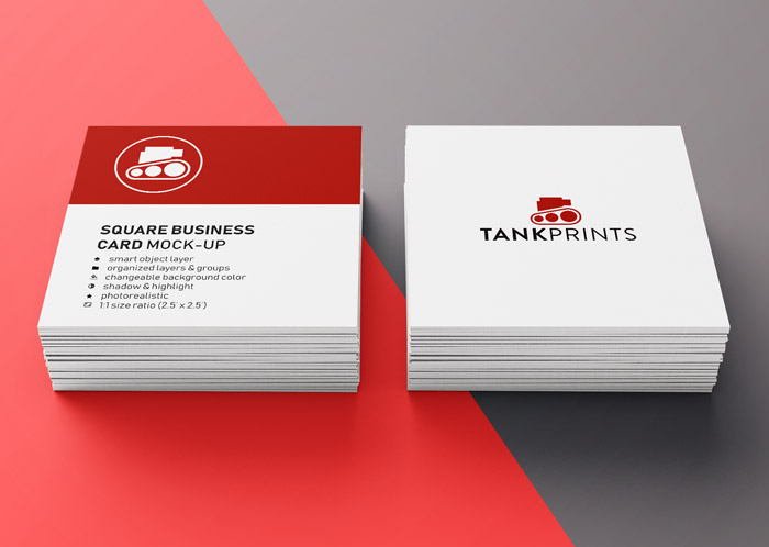Tank Prints Square Business Cards